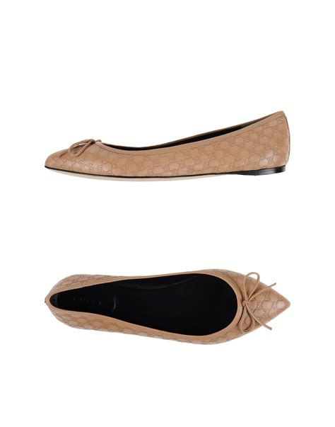 Flat Shoes Gucci W5347 gucci ballet flats in lyst