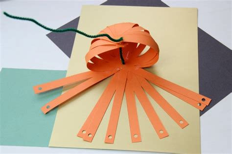 How To Make A Pumpkin Out Of Paper - craft make paper pumpkins