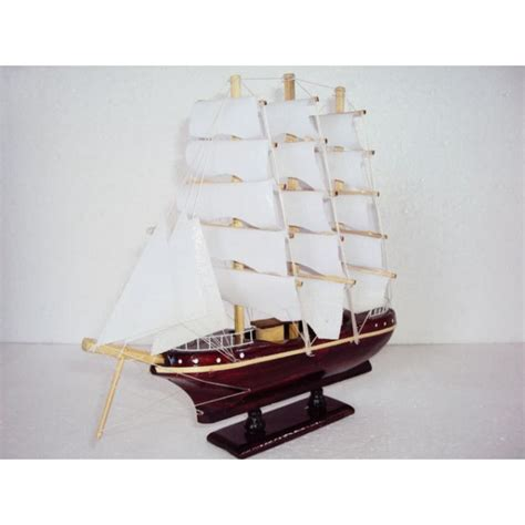 Handmade Boat - mini handmade wood model ship handmade sail boat