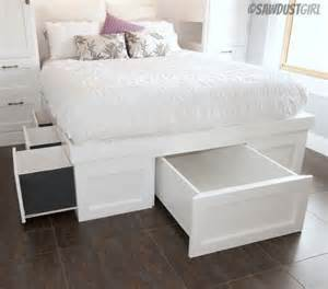 Platform Bed With Storage Tutorial Diy Storage Beds The Budget Decorator
