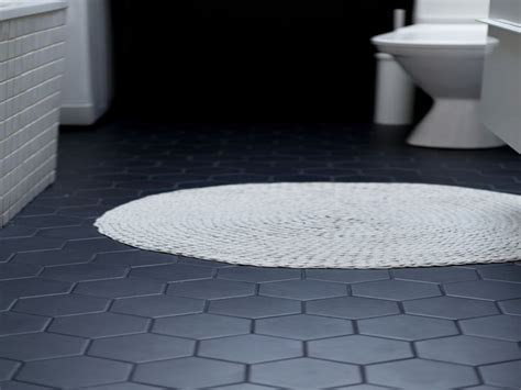 1 hex tiles bathroom floor hexagon bathroom floor tile black grout ideas