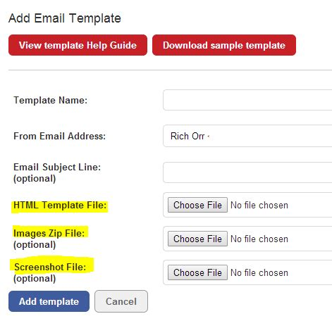 add new template email templates guide email intouch