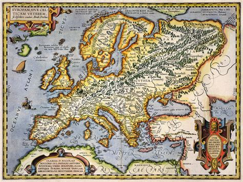 europe a history antique map of europe circa 1595 petty palin the long
