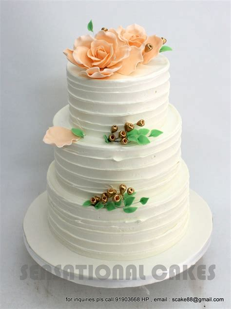 Hochzeitstorte Creme by Colored Sensational Cakes