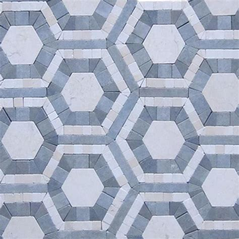 shop for cosmos carrera and moonstone hexagon marble tile at tilebar com