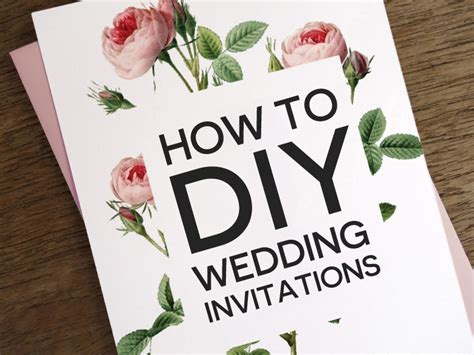 how to diy wedding invitations - How To Diy Wedding Invitations