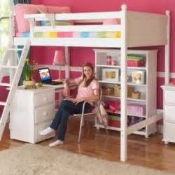 Full Size Loft Bed With Desk Underneath Foter White Wood Loft Bed With Desk