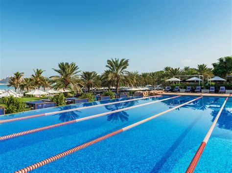 the lap pool at the jumeirah beach hotel oyster com westin dubai mina seyahi spa in dubai features