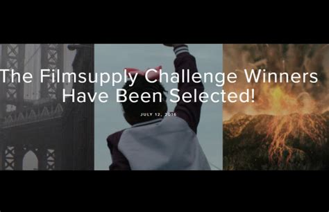 The Winner Has Been Chosen by Filmsupply Challenge Winning Entries Are Worth A Look