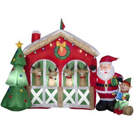 christmas stable walmart 6 airblown reindeer stable walmart
