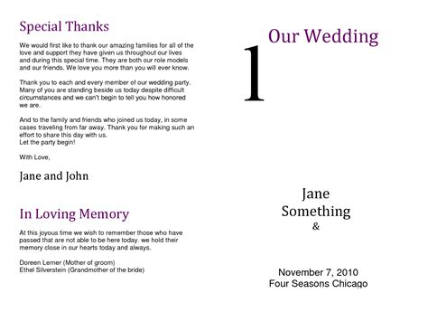 Thank You Letter Verbiage the design of wedding program thank you wording criolla