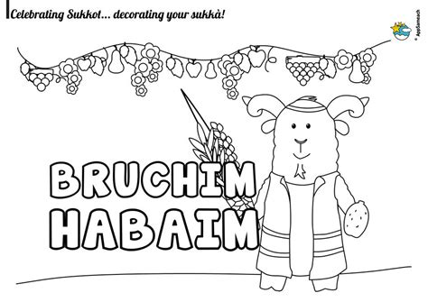 sukkot coloring pages sukkot coloring pages traditions for