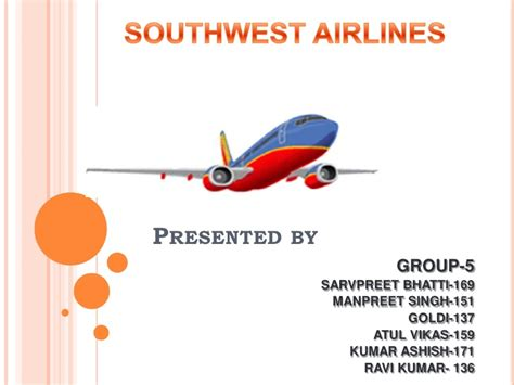 Southwest Airlines Ppt Airline Powerpoint Templates