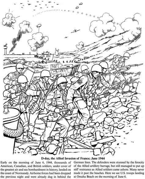 Wwii Coloring Pages free coloring pages of ww2 d day