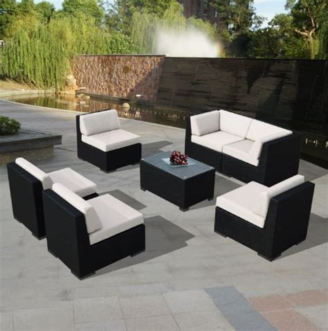 Patio Furniture Sectional Clearance Patio Sets Clearance Genuine Ohana Outdoor Patio Wicker Sofa Sectional Furniture 7pc All