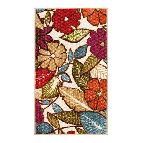 1 X 2 Ft Rug by Modern Living Flowers Multi 1 Ft 6 In X 2 Ft 6 In