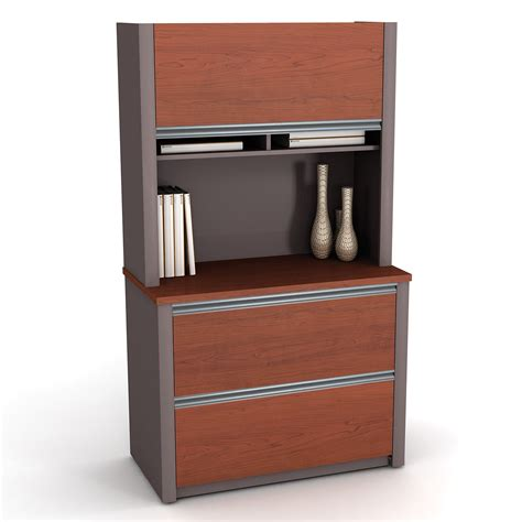 file cabinet with bookcase hutch bestar connexion filing cabinet and bookcase hutch