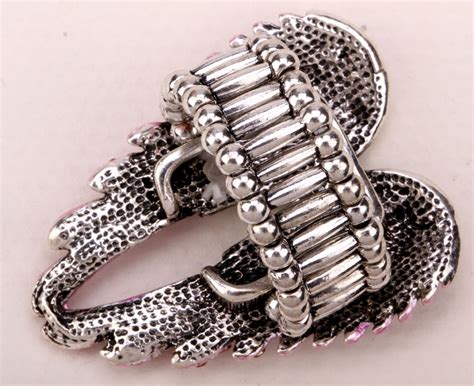 wings stretch ring biker bling jewelry antique