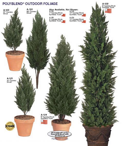fake tall outdoor evergreen trees other artificial