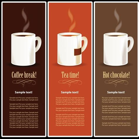 Menu Coffee Toffee vector coffee tea and chocolate banner like menus free web graphic design resources