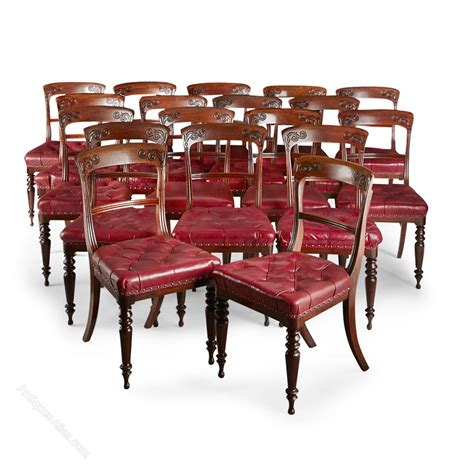 William Iv Dining Chairs Set Of 20 William Iv Scottish Dining Chairs Antiques Atlas