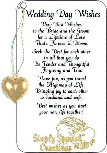 Wedding Wishes Poem by Wedding Day Wishes Sayings Poems Etc