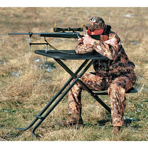 the shooters bench big game shooting bench 118693 shooting rests at sportsman s guide