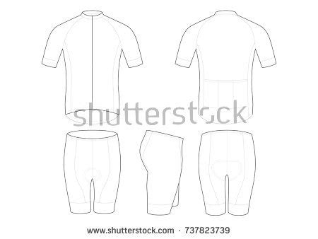 Cycling Jersey Template Design Stock Vector 737823739 Shutterstock Cycling Jersey Design Template