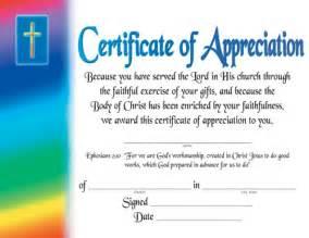 Pastor Appreciation Certificate Template by Certificate Of Appreciation Certificates Church