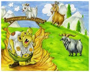 Nursery Rhyme Wall Stickers quot three billy goats gruff quot by kathrynmp redbubble