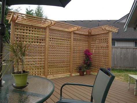 pergola privacy screen all access fence fabrication privacy screens