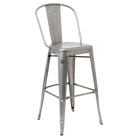 Bistro Style Bar Stools by Bistro Style Metal Bar Stool In Clear Finish