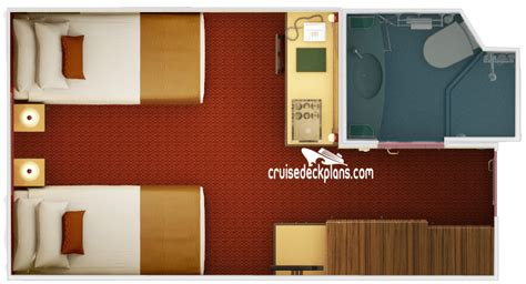 carnival interior room floor plan carnival interior stateroom