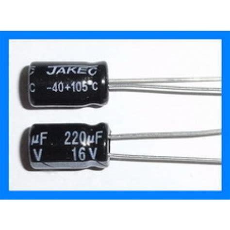 220uf 16v electrolytic capacitor 220uf 16v 105c radial electrolytic capacitor 6x11mm