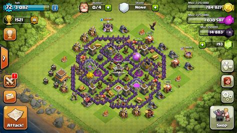 layout coc th8 4 mortar himb th8 farming base with extra mortar clashofclans