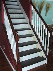 Carpet To Wood Stairs by Remodelaholic Top Ten Stair Makeovers And Link Party