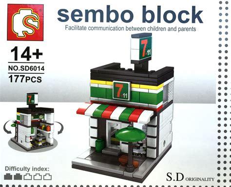 Sembo Block Shop Sd6011 sembo block s d originality high shop series two stories convenient store sd6014