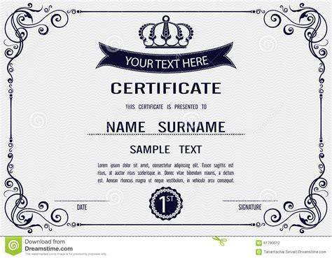 certificate template vector vector certificate template stock vector image 61790512