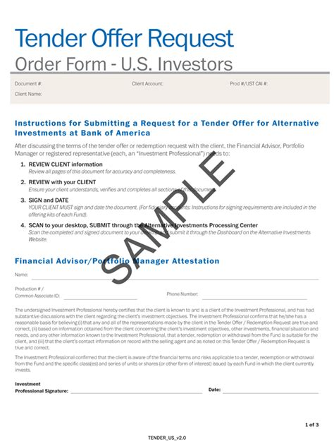 Tender Offer Letter Exle Logo
