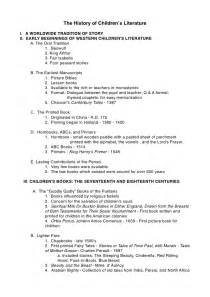 Outline For Research Paper History by Childrens Literature History Outline