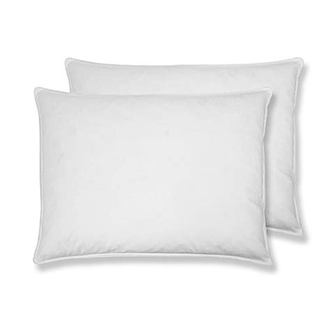 bed bath and beyond feather pillow st james home 2 pack white goose feather pillow bed bath beyond