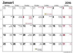 Kalender Für 2018 Zum Ausdrucken Almanacka 2016 Veckonummer Calendar Template 2016