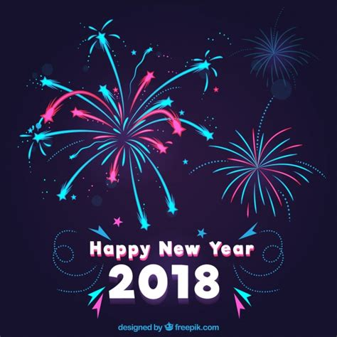 new year vector free fireworks new year background vector free