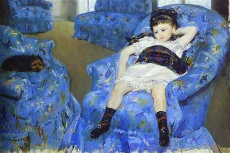 In A Blue Armchair by In A Blue Armchair By Cassatt