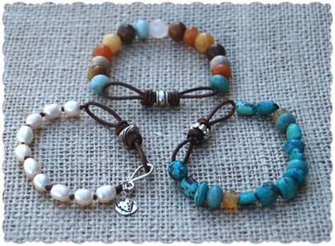 how to make stretch bracelets with stretch cord leather bracelets of different