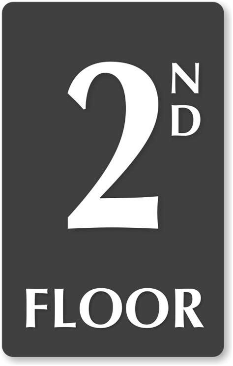 2nd floor number engraved sign free shipping sku se 5836