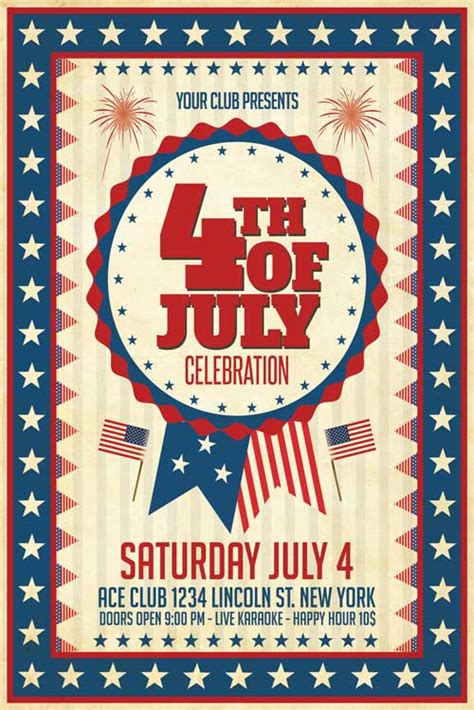 xtremeflyers 4th of july flyer templates