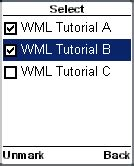wap wml tutorial pdf wml tutorial selecting multiple options check boxes of