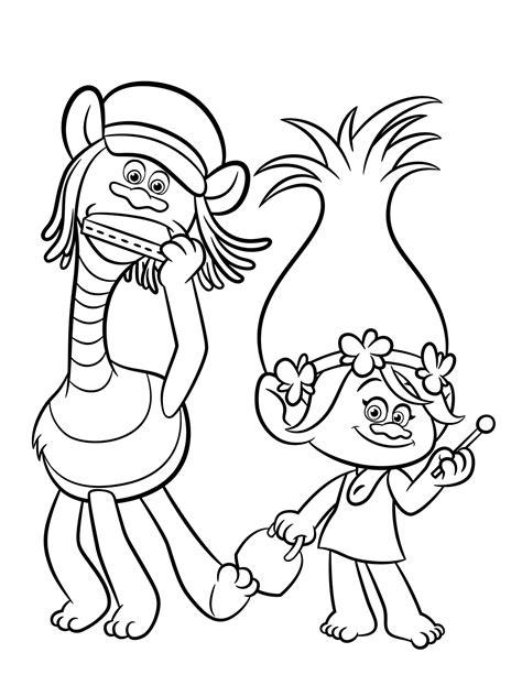 Aprende Brincando: Desenhos dos Trolls para Colorir