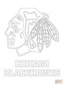 Chicago Blackhawks Coloring Pages chicago blackhawks logo coloring page free printable